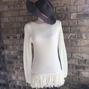 Chelsea and Theodore} FRINGE SWEATER